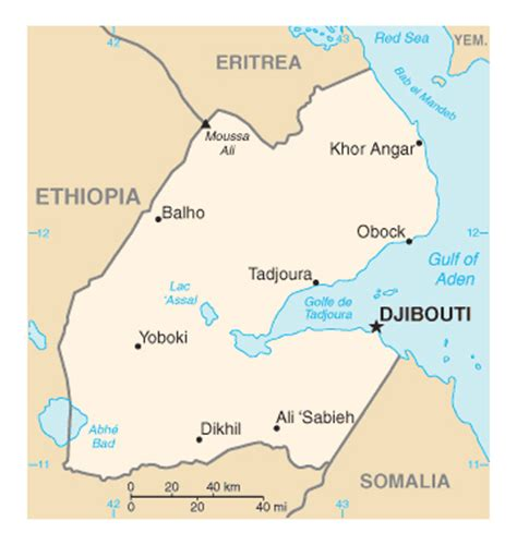 djibouti map maps of djibouti map library maps of the world