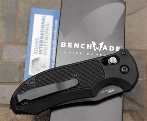 benchmade seat belt cutter benchmade serrated triage axis auto rescue knife model