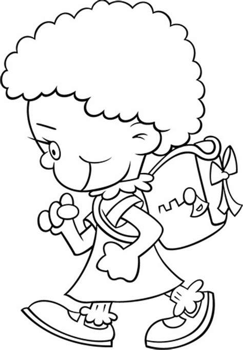 imagenes niños yendo ala escuela dibujos de ni 241 os yendo a la escuela para colorear