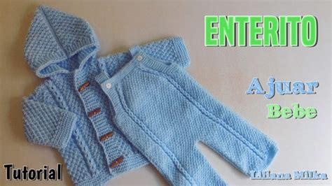 pantalones tejidos a palitos para recien nacidos ajuar dos agujas body o enterito paso a paso crochet