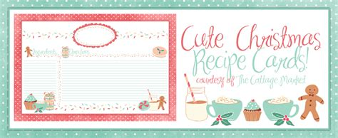 printable recipe cards cute holiday recipe card printable for you plus some sweet