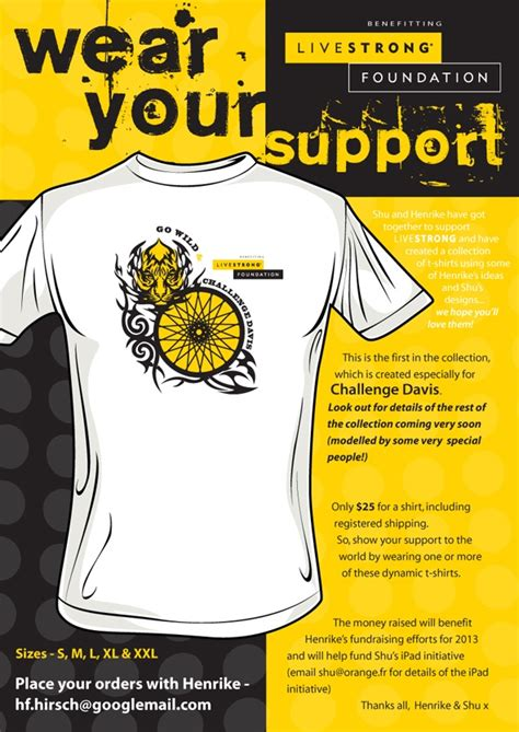 this is the first fundraising t shirt in a series shirts