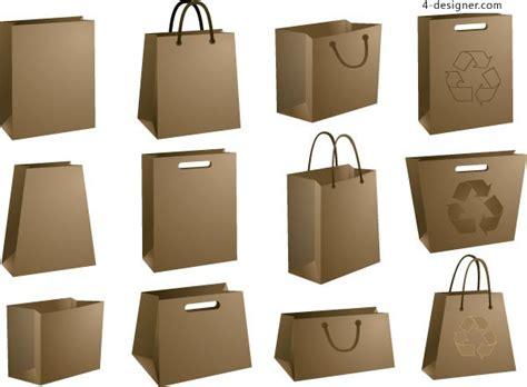 paper shopping bag pattern 4 designer variety of beautiful brown paper bag vector