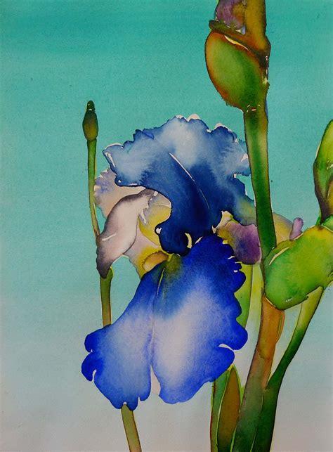 watercolor tutorial iris paintings iris tutorial