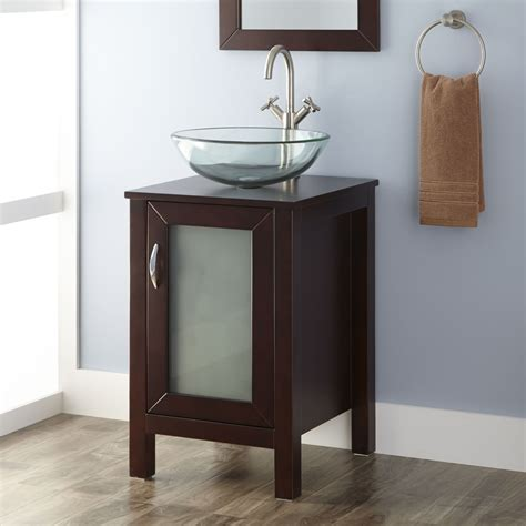 Sink Vanity Cabinet 19 Quot Massey Vanity Cabinet With Vessel Sink