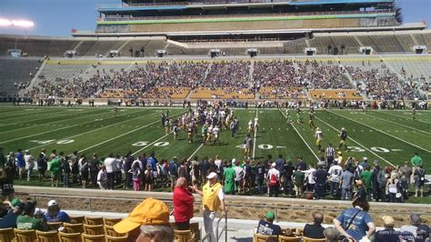 notre dame stadium visitor section notre dame stadium section 9 rateyourseats com