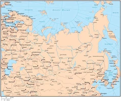 russia map showing cities map of russia with cities