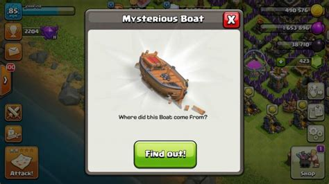 what is the boat in clash of clans clash of clans mysterious boat thrills players video