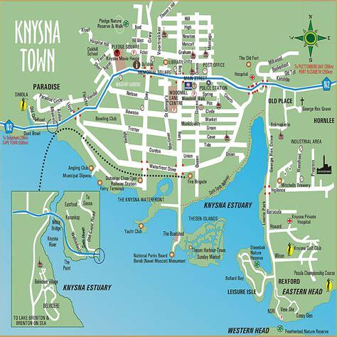 town map knysna town map knysna south africa mappery