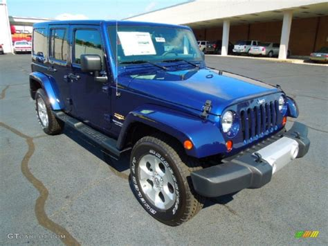 jeep sahara blue 2013 true blue pearl jeep wrangler unlimited sahara 4x4