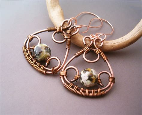 Handmade Aluminum Wire Jewelry - wire wrapped earrings by bleek70 on deviantart