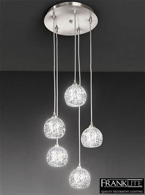 Satin Nickel Pendant Light Fixtures Franklite Tierney 5 Light Pendant Ceiling Fixture Satin Nickel Fl2301 5 From Easy Lighting