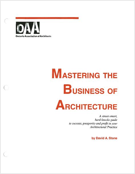 Association Of Mba Access Code by Documents Ontario Association Of Architects
