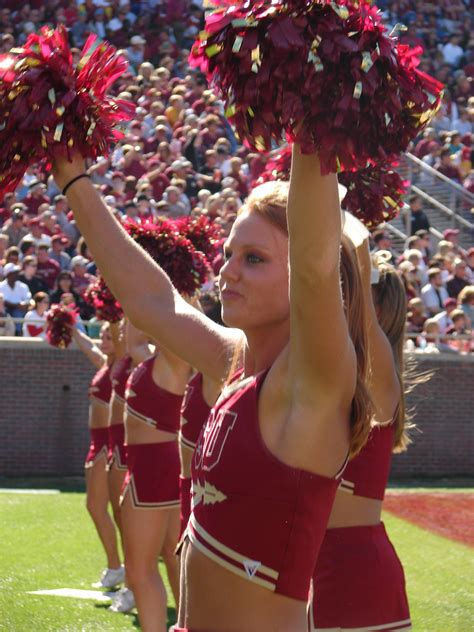 florida state college cheerleaders college cuties uconn seminoles and razorbacks are big
