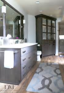 grey wood tile bathroom before after project modern organic bathroom design