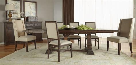 extendable dining room sets hudson rustic java rectangular extendable trestle dining