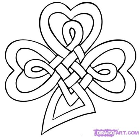 how to draw a celtic clover knot step by step st