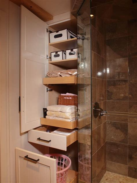 bathroom closet shelving ideas five great bathroom storage solutions