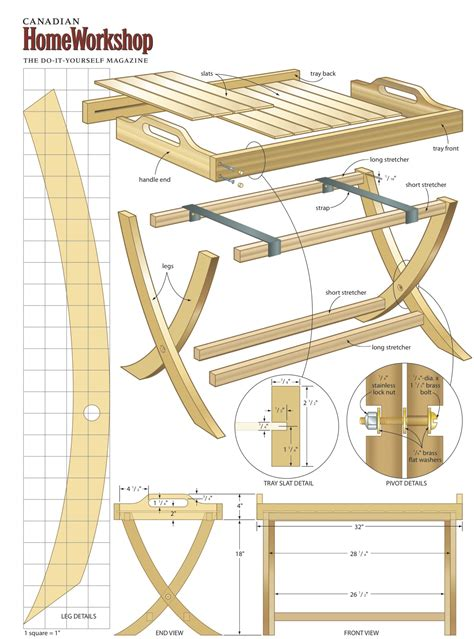 Train Trellis Folding Tv Table Plans Free Woodguides