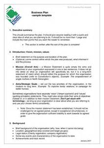Business Plan Template Social Enterprise by Business Templates Exles Business Plan