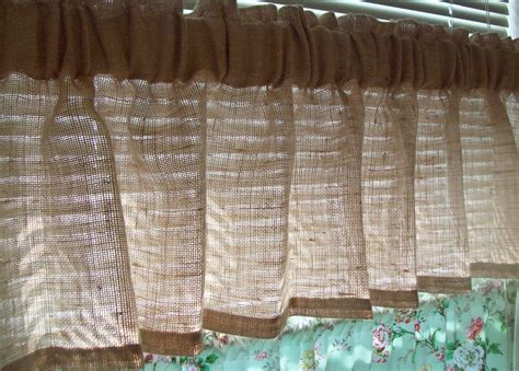 Just Valances 92 X 16 Custom Burlap Valance Unlined With 3 Wide