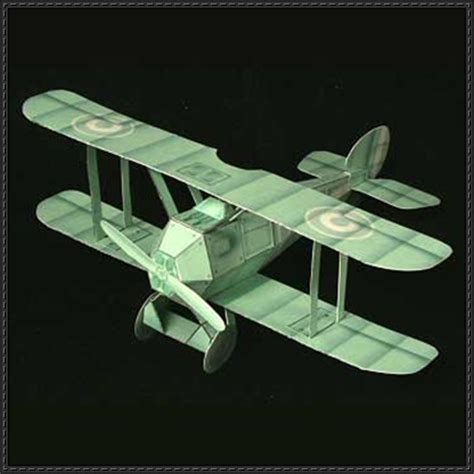 Origami Biplane - wwi ghost biplane fighter free aircraft paper model