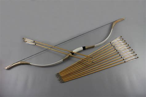 D The Bow And Arrow Set 1 2018 50lb vintage bow and arrows set outdoor traditional archery cowhide covered from