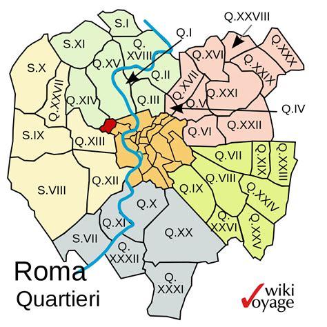 di orma quartieri di roma