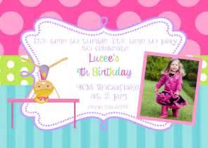 12 gymnastics birthday party invitations with envelopes