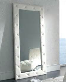 white floor mirror sevilla in modern style made in spain