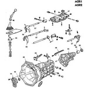 ford m5r1 and m5r2 manual transmission parts illustration