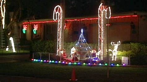 christmas light displays in florida florida man s christmas light display angers neighbors