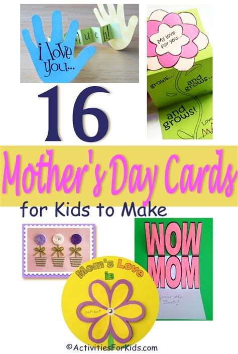 mothers day cards for children to make s day cards ideas for teachers