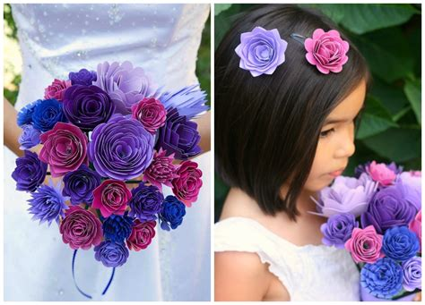 How To Make A Paper Wedding Bouquet - diy paper wedding bouquet and matching flower
