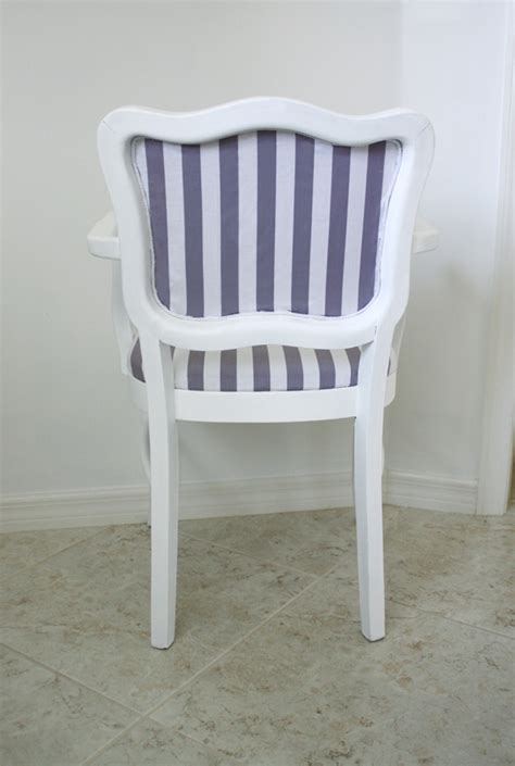 Gray And White Striped Chair How To Reupholster An Occasional Chair House Mix