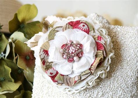 shabby chic fabric flowers best 20 fabric flower pins ideas on fabric