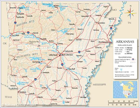 rock usa map reference maps of arkansas usa nations project