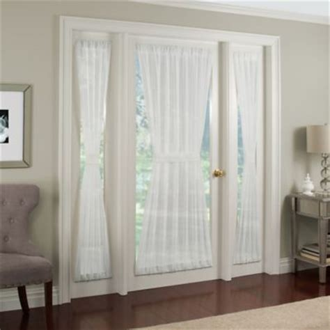 side window curtain rods crushed voile rod pocket side light window curtain panel