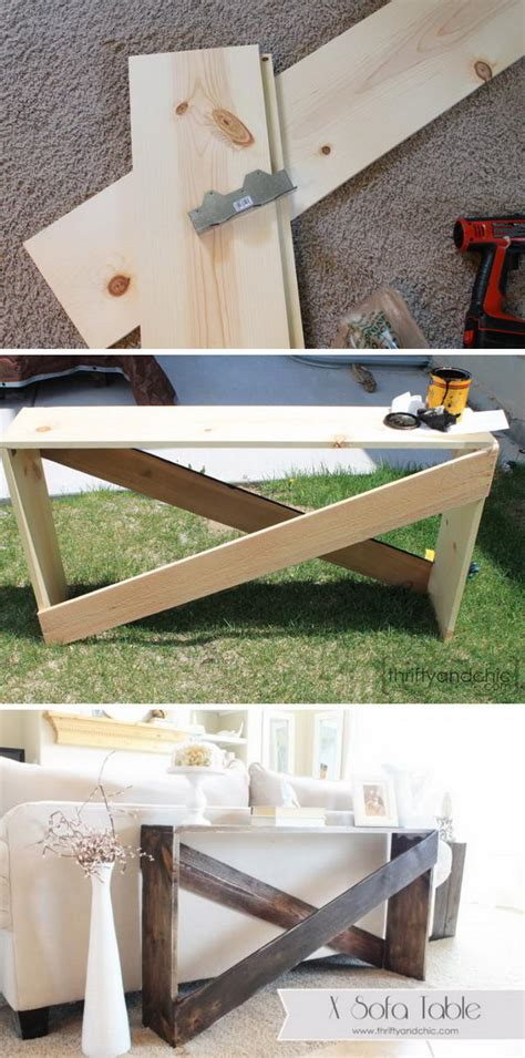 easy diy console table 20 easy diy console table and sofa table ideas hative