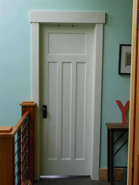 bedroom door with window craftsman trim paneled door hammer like a girl home re