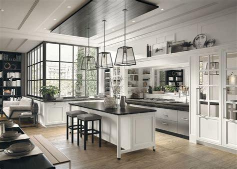 marche arredamento casa cucina componibile in stile moderno con isola con maniglie
