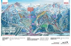 map of canada whistler whistler blackcomb canada ski trail map elevation terrain