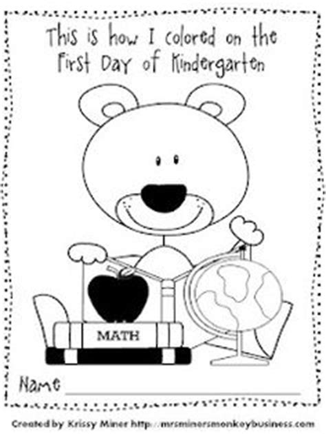 coloring page first day of kindergarten 1000 images about back to school on pinterest
