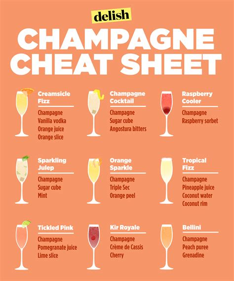 list of new year names ideas for new year s chagne cocktails delish