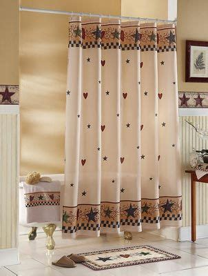 country style shower curtain country stars hearts bathroom shower curtain primitive