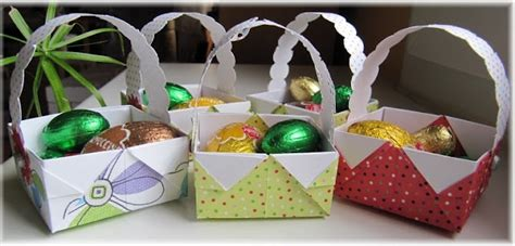 Easter Basket Origami - origami easter baskets my style