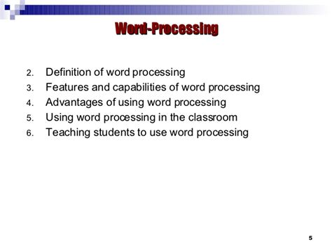 applications word processing spreadsheet database