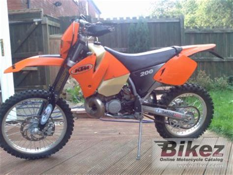 2001 Ktm 200 Exc Review 2001 Ktm Exc 200 Specifications And Pictures