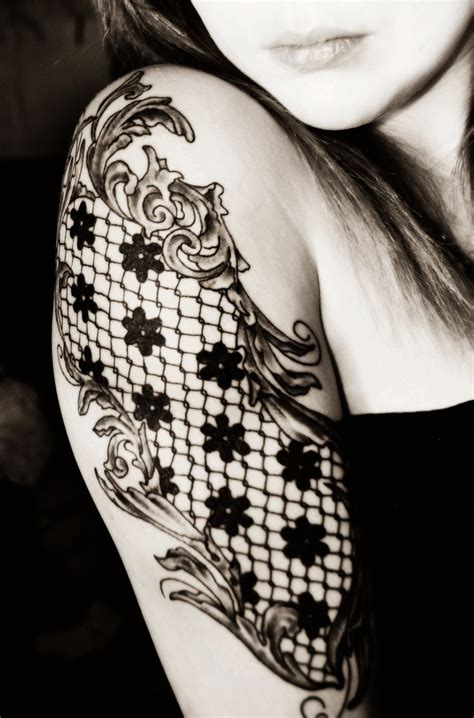 lace shoulder tattoo lace tattoos designs ideas and meaning tattoos for you
