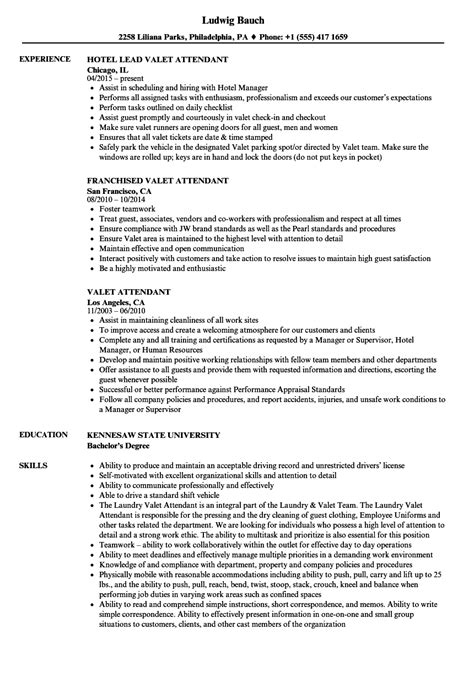 Valet Attendant Description by Valet Parking Duties Direct Care Worker Cover Letter